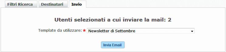 Invio Newsletter da Sito web